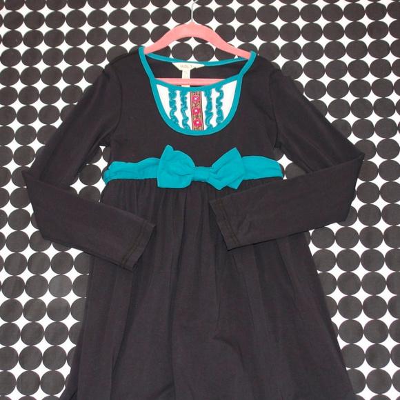 Matilda Jane Other - Matilda Jane Dark Blue/Black Teal Tuxedo Dress 8